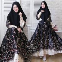 Baju Muslim Gamis Syari Pesta Wanita Maxmara Natris Terbaru