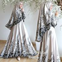 Baju Muslim Gamis Syari Pesta Wanita Maxmara Valen Terbaru