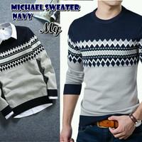 Michael Navy Sweater
