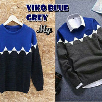Viko Blue Grey Sweater