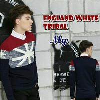 England White Tribal Sweater