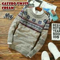 Gazebo Twist Cream Sweater