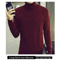 Sweater Pria Kojiro Turtle Neck Maroon