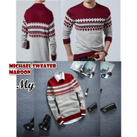 Michael Maroon Sweater