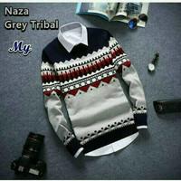 Naza Grey Tribal Sweater
