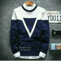 Triangel Navy Sweater