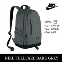 Ransel pria merk Nike dengan slot laptop warna dark grey