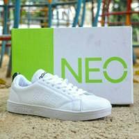 Sepatu Sneaker Adidas Neo Advantage Full Putih White Women Wanita Cewe