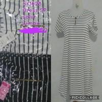 daster midi busui salur hitam putih dress kaos