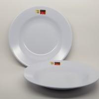 Piring Makan Melamin 9 (23 cm) - Golden Dragon P0109 - Putih