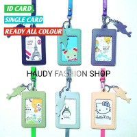 NAME TAG KULIT PU / GANTUNGAN ID CARD DOLPIN / ID CARD HOLDER