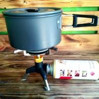 Kompor camping ultralight stove camping portable sudah berikut adaptor