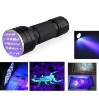 SENTER UV 21 LED (FLASHLIGHT UV UNTUK DOKUMEN / UANG KERTAS)