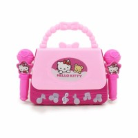 Mainan Anak - Microphone Double Bag Hello Kitty Pink Mic Musik Tas