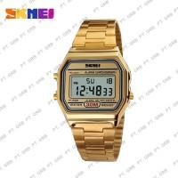 Jam Tangan Pria Digital SKMEI 1123 Gold Water Resistant 30M