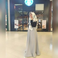 dress gamis Salur Cutton linen