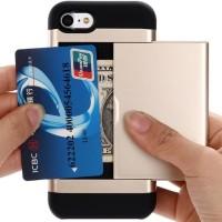 Card Slot Case iPhone 6/6s, 6/6s Plus, 7/8, 7/8 Plus, X/XS, XS MAX - Merah