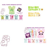 Kazel Tshirt PANDA MERMAID 3 PCS