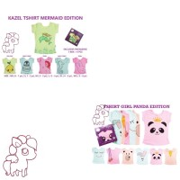 Kazel Tshirt PANDA MERMAID 6 PCS (1 BOX)