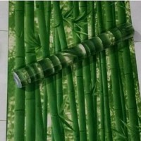 Wallpaper bambu hijau 45 cm x 10 mtr || Wallpaper dinding