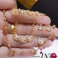 set xuping perhiasan anak kalung gelang cincin lapis emas 18 terlaris
