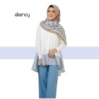 White Blue Top by Deenay