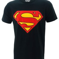 Kaos Baju Superhero Superman Classic Black