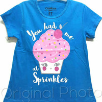 KAOS ANAK SIZE 1-6 OSHKOSH CUP CAKE YOU HAD ME AT SPRINKLES