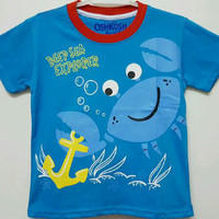 KAOS ANAK SIZE 7-10 OSHKOSH CRAB DEEP SEA EXPLORER