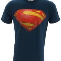Kaos Baju Superhero Superman Man Of Steel Logo
