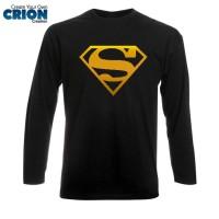 Kaos Lengan Panjang Superman - Superman Gold Logo
