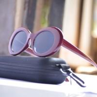 kacamata sunglass wanita jelly maroon