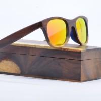 kacamata sunglass pria wanita SANDEL retro kayu H778