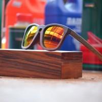 kacamata sunglass pria wanita SANDEL retro kayu 75045