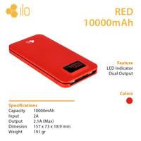 Hippo Power Bank ILO RED 10000mAh / 10000 mAh Garansi Resmi - Original