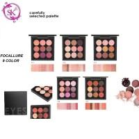 FOCALLURE FA36 Eyeshadow Palette Makeup Metallic 9 Colors