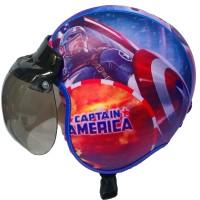 Helm Anak Bogo Usia 7 - 10 Tahun Motif Pilot Captain Amerika