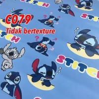 wallpaper sticker c79s wall paper stiker stitch biru