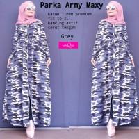 Dress wanita parka army maxy