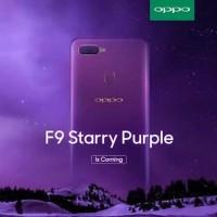 Hp smartphone Oppo F9 ram 4gb rom 64gb Starry purple garansi resmi
