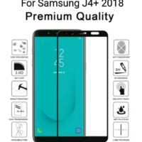 Tempered Glass Samsung J4 Plus J4+ Warna Anti Gores Kaca Full Screen - Hitam