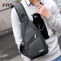 Tas Selempang Crossbody Import With Port Usb and Earphone Hole
