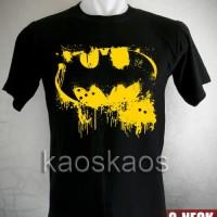 Kaos Batman Classic Logo Yellow Ukuran S sd XL