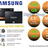 "SAMSUNG SSD 860 EVO 500GB / 2.5"" / SATA / baru / ori / garansi 5 tahun"