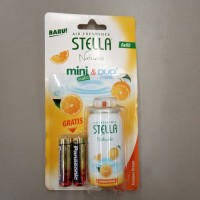 Stella Natural Refill Mini Matic & Duo Matic Jeruk Gratis 2 Baterai
