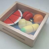Buah Potong (Mainan Edukasi kayu)