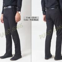 Hobrall Celana Bahan Kerja Model Slimfit Pria / Formal Cowok Slim fit