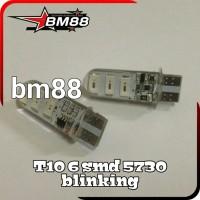 Lampu Led T10 6 SMD 5730 Blinking Silicon Canbus - Blitz