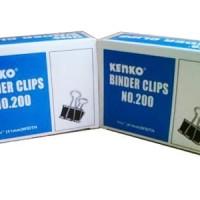 KENKO Binder Clip No.200 / Penjepit Klip Kertas Dokumen File Besar