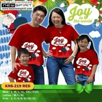 NEW SPIRIT JOY TO THE WORLD KAOS NATAL SANTA MERAH COUPLE FAMILY KEREN